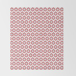Ornaments Red - Gray Throw Blanket