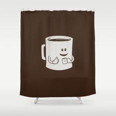 Mugged. Shower Curtain