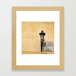 Vintage city Correo Street Framed Art Print