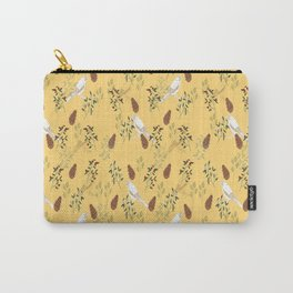 Shy little Jay in yellow Carry-All Pouch