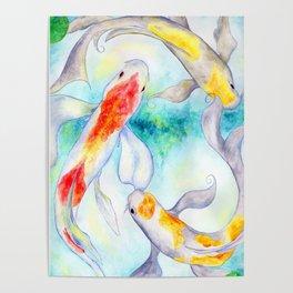 Fire Koi Poster