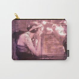 He Left Words And Flowers by the Bed -romantic victorian art prit Carry-All Pouch