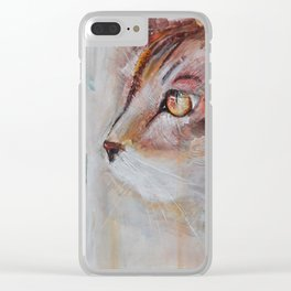 Le chat (the cat) Clear iPhone Case