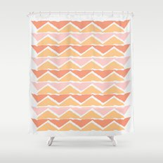 triangle sunset Shower Curtain