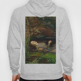 Ophelia from Hamlet Oil Painting by Sir John Everett Millais Hoody