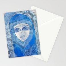 BLUE girl Stationery Cards