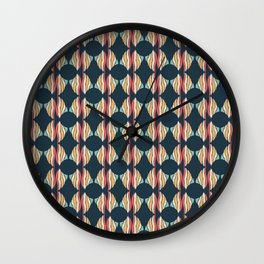 Oval and Diamond Sillouette Pattern Wall Clock