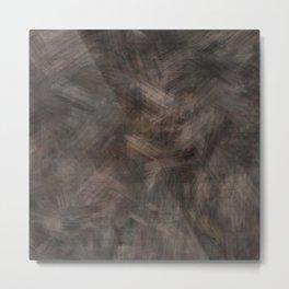 Brown dark misty look Metal Print