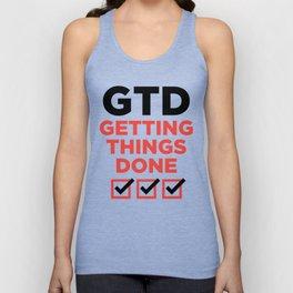GTD : GETTING THINGS DONE Unisex Tank Top