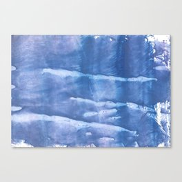 Steel blue clouded wash drawing paper Canvas Print