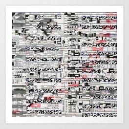 Pack Mule (P/D3 Glitch Collage Studies) Art Print