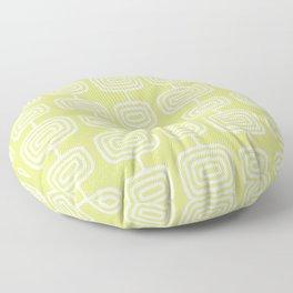Mid Century Modern Atomic Rings Pattern 731 Chartreuse Floor Pillow