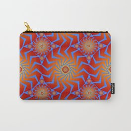Abstract Radial Pattern Carry-All Pouch