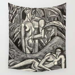 Contemplation, Engraving from Song of Solomon, 1929 by Cecil Buller Wall Tapestry