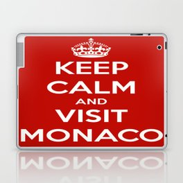 Keep Calm And Visit Monaco! Laptop & iPad Skin