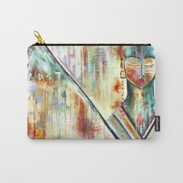 """Trust Inside"" Original Painting by Flora Bowley Carry-All Pouch"