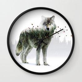 Wild I Shall Stay   Wolf Wall Clock