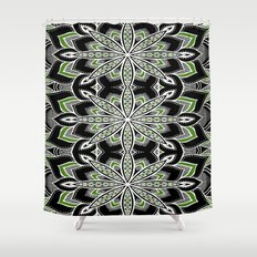 Blackwhite Illustration Love And Pattern Shower Curtains Society - Black and white flower shower curtain