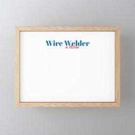 Wire Welder in Action Framed Mini Art Print