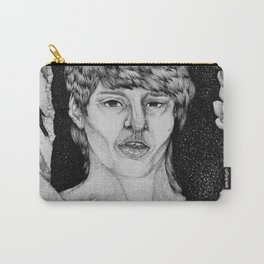 Not a Man Portrait in Aloe Carry-All Pouch