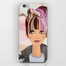 Punk Girl  iPhone Skin