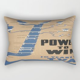 Vintage poster - Tennessee Valley Authority Rectangular Pillow