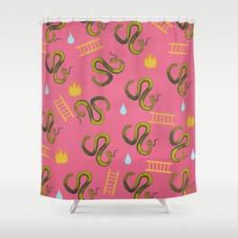 Snakes and Ladders Shower Curtain