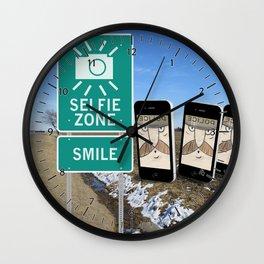 Selfie Zone - Smile Wall Clock