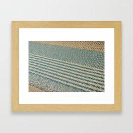 Blue twill  Framed Art Print