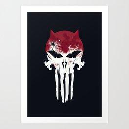 The Devil & The Punisher Art Print
