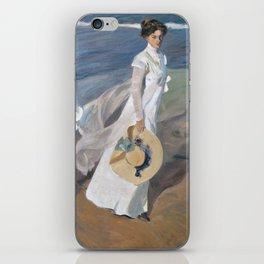 Joaquín Sorolla y Bastida - Strolling along the Seashore iPhone Skin