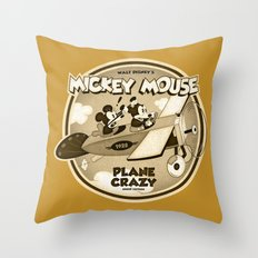 Plane Crazy Throw Pillow