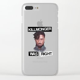 Killmonger Clear iPhone Case