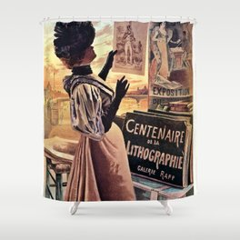 1895 Paris Centennial of Lithography Shower Curtain