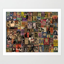 Rock n' roll stories II Art Print