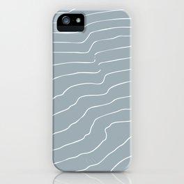 Contour Lines Grey iPhone Case