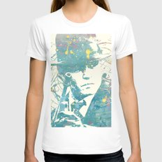 johnny deep public enemies MEDIUM White Womens Fitted Tee