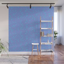Purple Turquoise Shambolic Bubbles Wall Mural