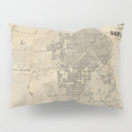 Vintage Map of San Francisco CA (1881) Pillow Sham