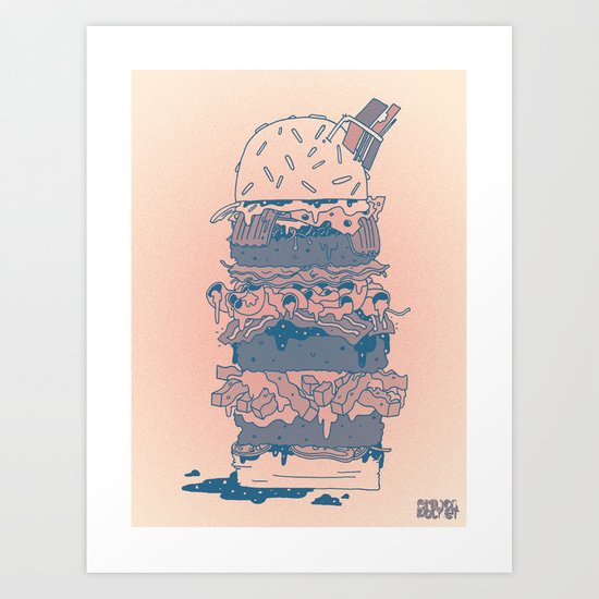 Mighty Burger Art Print