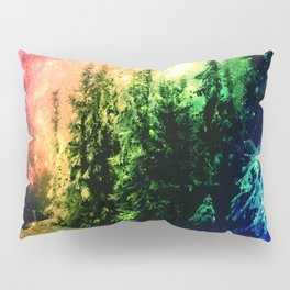 Galaxy Forest Rainbow Snow Pillow Sham