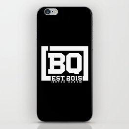 New BQ Initials-white iPhone Skin