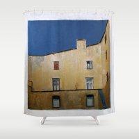 window Shower Curtains featuring Window by Olga Krokhicheva