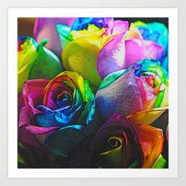 Rainbow Roses 20 Art Print