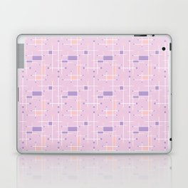 Intersecting Lines in Pink, Peach and Lavender Laptop & iPad Skin