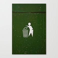Trash - Put here please! Canvas Print