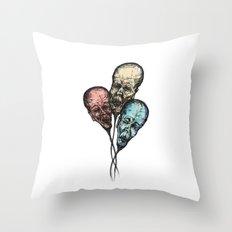 3 Wise Balloons Throw Pillow