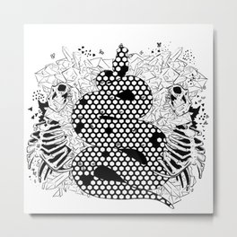 More bees with honey Metal Print