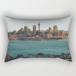 Auckland, New Zealand Travel Artwork Rectangular Pillow