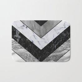 Shimmering mirage - grey marble chevron Bath Mat